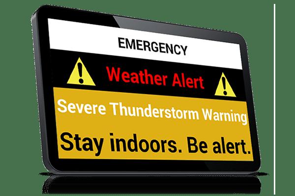 Weather Alert notification
