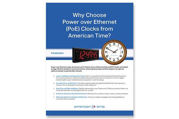 Why Choose Power over Ethernet (PoE) Clocks?